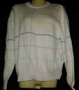 Lands End Striped Sweater